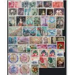 Briefmarke Monaco 1972 neues ganzes Jahr