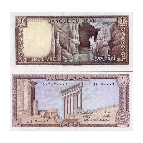 Billets de collection Billet de banque Liban Pk N° 61 - 1 Livre Billets du Liban 4,00 €