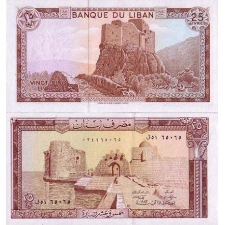 Liban - Pk N° 64 - Billet de 25 Livres