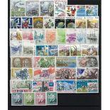 Briefmarke Monaco 1986 neues ganzes Jahr