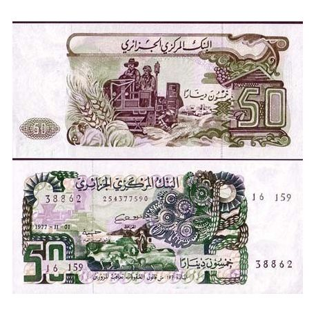 Billet de collection Algerie Pk N° 130 - 50 Dinars