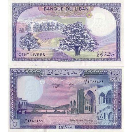 Billets de collection Billets de banque Liban Pk N° 66 - 100 Livres Billets du Liban 3,00 €