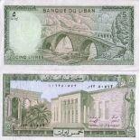 Billet de banque Liban Pk N° 62 - 5 Livres