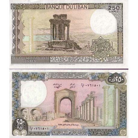 Billets de collection Billets banque Liban Pk N° 67 - 250 Livres Billets du Liban 2,00 €