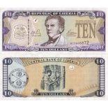 Banknoten Sammlung Liberia Pick Nummer 27 - 10 Dollar