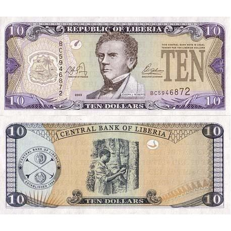 LIBERIA - Pk N° 27 - Billet de 10 Dollar