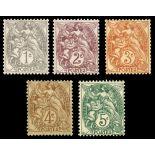 Briefmarken Reihe von France N ° 107/111 Postfrisch