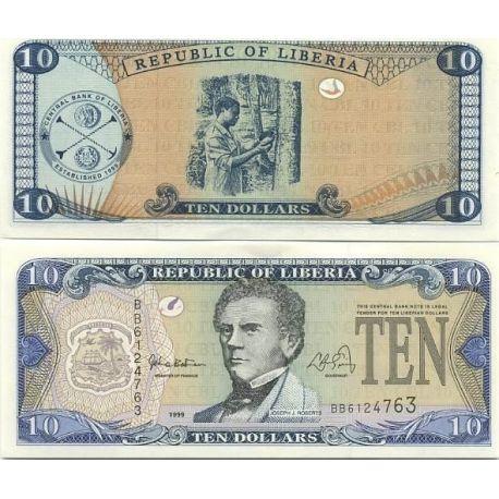 LIBERIA - Pk N° 22 - Billet de 10 Dollar