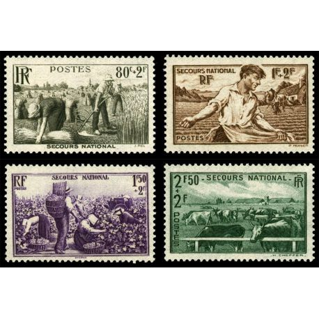 Timbres France Série N° 466/469 neuf sans charnière
