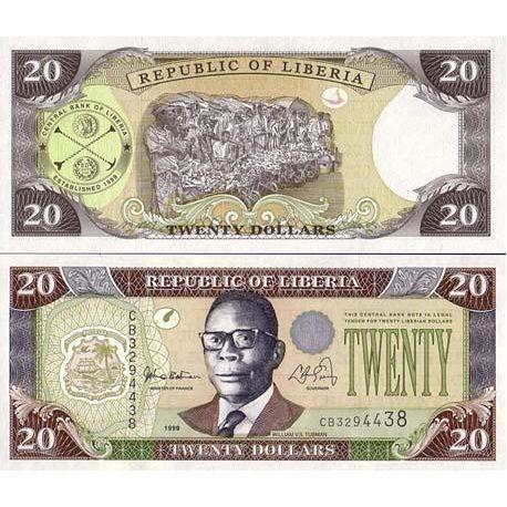 Billet de banque LIBERIA Pk N° 23 - 20 Dollar