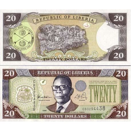 LIBERIA - Pk N° 23 - Billet de 20 Dollar