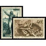 Serie francobolli di Francia N ° 314/315 Nuevo non linguellato