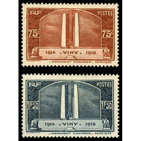 Timbres France Série N° 316/317 neuf sans charnière