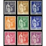 Timbres France Série N° 363/371 neuf sans charnière
