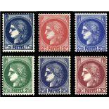Serie francobolli di Francia N ° 372/376 Nuevo non linguellato