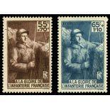 Timbres France Série N° 386/387 neuf sans charnière