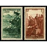 Serie francobolli di Francia N ° 474/475 Nuevo non linguellato