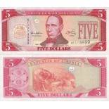 Beautiful banknote Liberia Pick number 21 - 5 Dollar