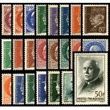 Serie francobolli di Francia N ° 505/525 Nuevo non linguellato