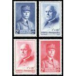 Serie francobolli di Francia N ° 568/571 Nuevo non linguellato
