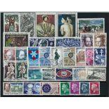 Francia anno completo 1967 francobolli annullati