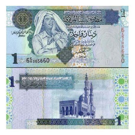 Billets de banque Libye Pk N° 64 - 1 Dinar
