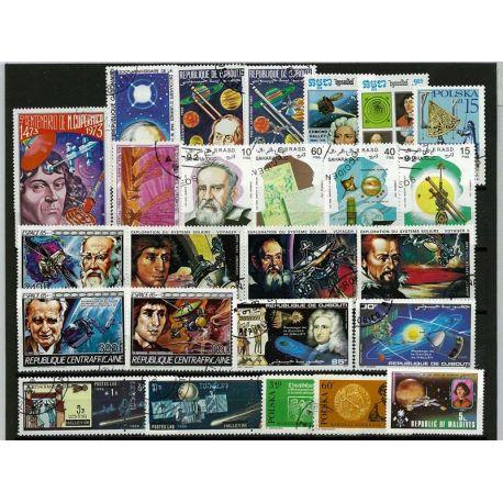 Collection de timbres Astronomes oblitérés