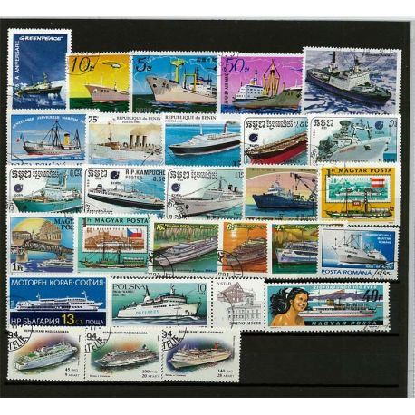 Paquebots : 25 timbres différents