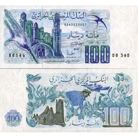 Billets de collection Billets banque Algerie Pk N° 131 - 100 Dinars Billets d'Algerie 17,00 €