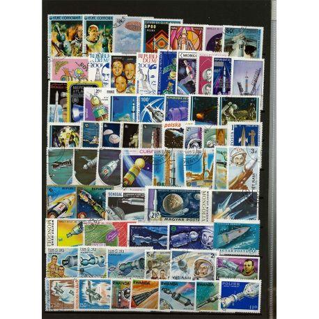 Flüge Mensch: 50 verschiedene Briefmarken