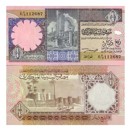 Billet de collection Libye Pk N° 57 - 1/4 Dinar