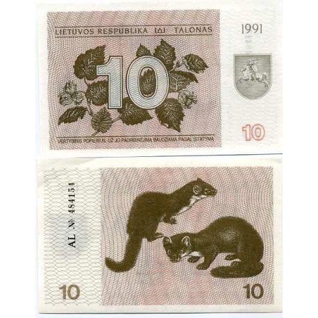 Billets banque Lituanie Pk N° 35 - 10 Talonas