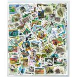 Collezione di francobolli animali cancellati