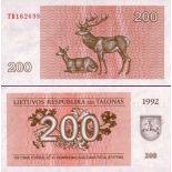 Billets de banque Lituanie Pk N° 43 - 200 Talonas
