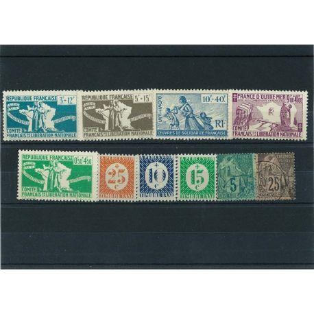 Kolonien Rf General - 10 verschiedene Briefmarken