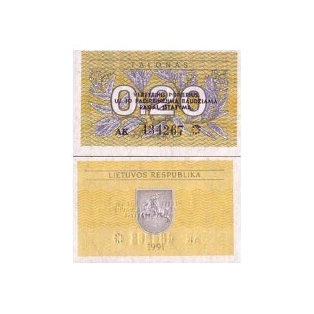 Billets banque Lituanie Pk N° 30 - 0.2 Talonas
