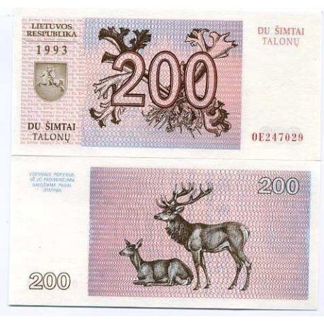 Billets collection Lituanie Pk N° 45 - 200 Talonas
