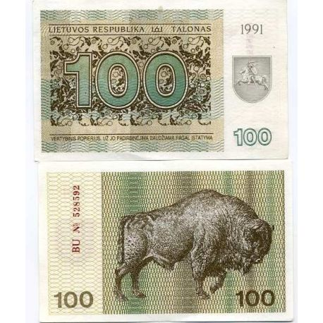 Billet de collection Lituanie Pk N° 38 - 100 Talonu