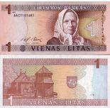 Billete de banco Lituania PK N° 53 - 1 vendió