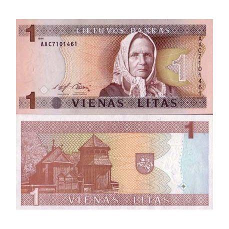 Billet de banque Lituanie Pk N° 53 - 1 Litas