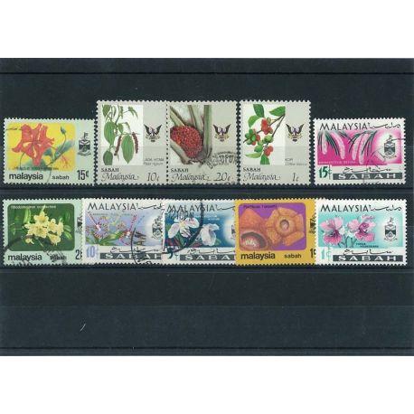 Sabah - 10 verschiedene Briefmarken