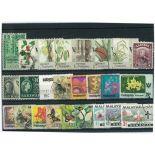 Sarawak-Sammlung gestempelter Briefmarken