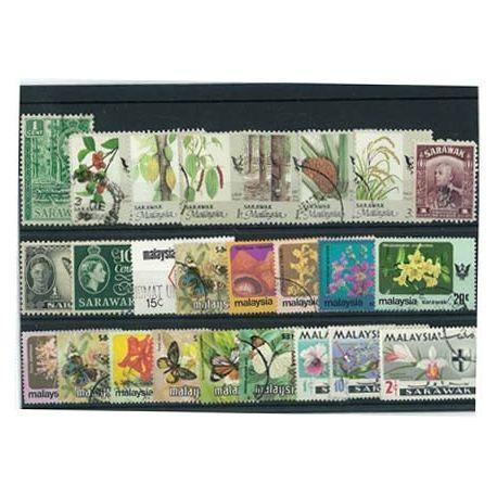 Sarawak - 25 verschiedene Briefmarken