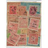 Travancore-Sammlung gestempelter Briefmarken