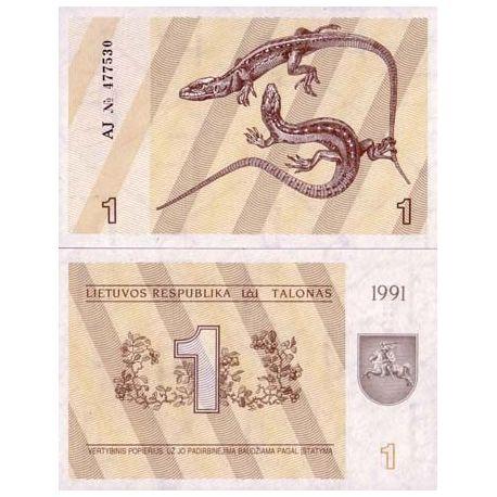 Billet de collection Lituanie Pk N° 32 - 1 Talona