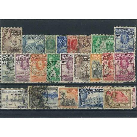 Collection de timbres Cote De L'Or oblitérés