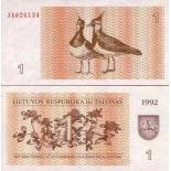 Banknotes collection Lithuania Pick N° 39 - 1 Pursued