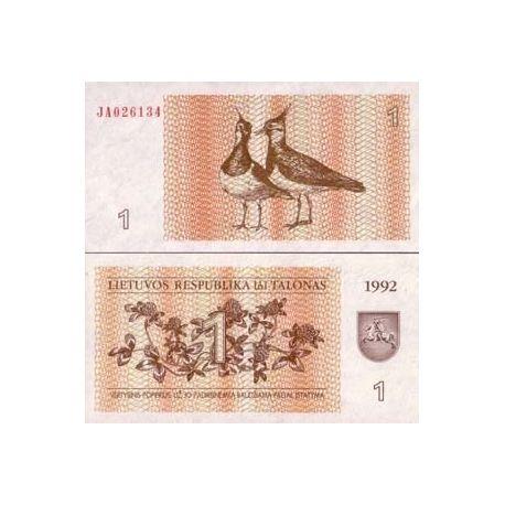 Billets collection Lituanie Pk N° 39 - 1 Talonas