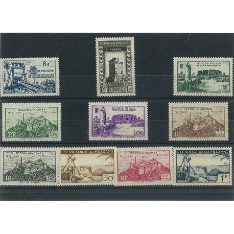 Fezzan - 10 timbres différents