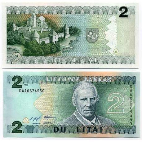 Billet de banque Lituanie Pk N° 54 - 2 Litai